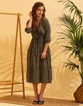 Εικόνα από Γυναικείο maxi φορέμα κρουαζέ Χακί