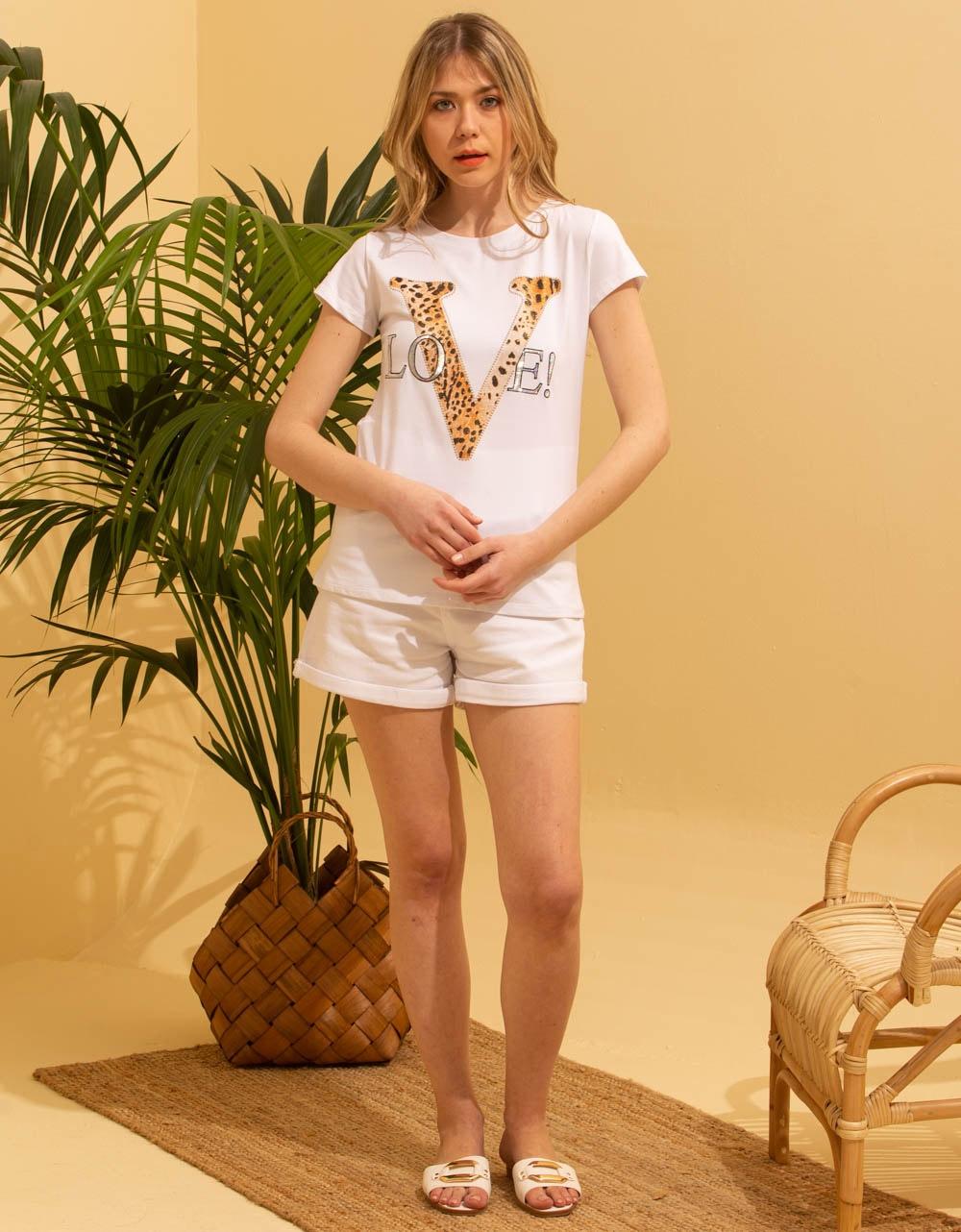 Εικόνα από Γυναικεία μπλούζα με τύπωμα Λευκό