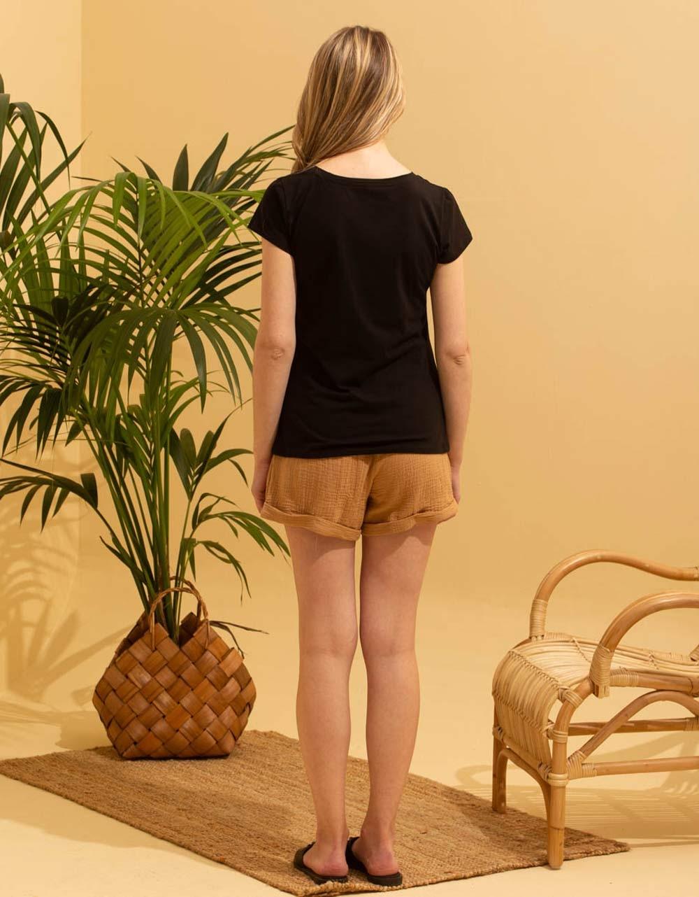 Εικόνα από Γυναικεία μπλούζα με τύπωμα Μαύρο