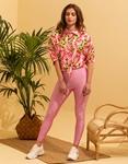 Εικόνα από Γυναικείο παντελόνι κολάν γυαλιστερό Ροζ