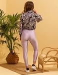 Εικόνα από Γυναικείο παντελόνι κολάν γυαλιστερό Λιλά