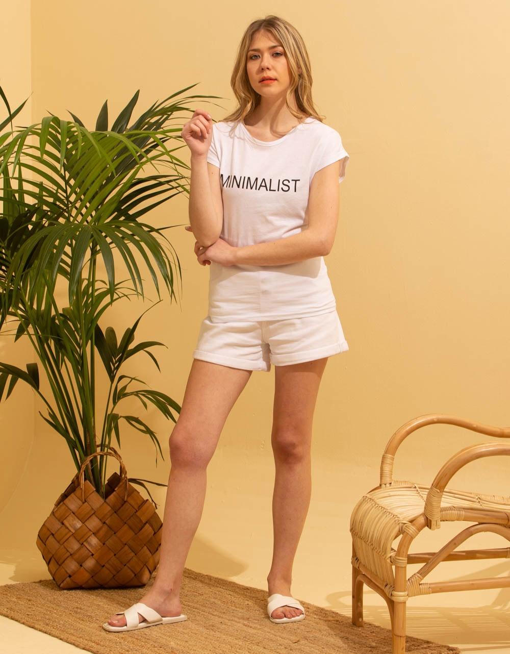 Εικόνα από Γυναικεία μπλούζα t-shirt με στάμπα Λευκό