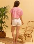Εικόνα από Γυναικεία κοντομάνικη μπλούζα crop top Ροζ