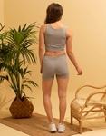 Εικόνα από Γυναικείο σετ activewear σόρτς & crop top Γκρι