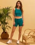 Εικόνα από Γυναικείο σετ activewear σόρτς & crop top Βεραμάν