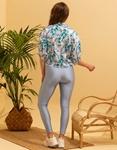 Εικόνα από Γυναικείο πουκάμισο με σχέδια δετό Μπλε