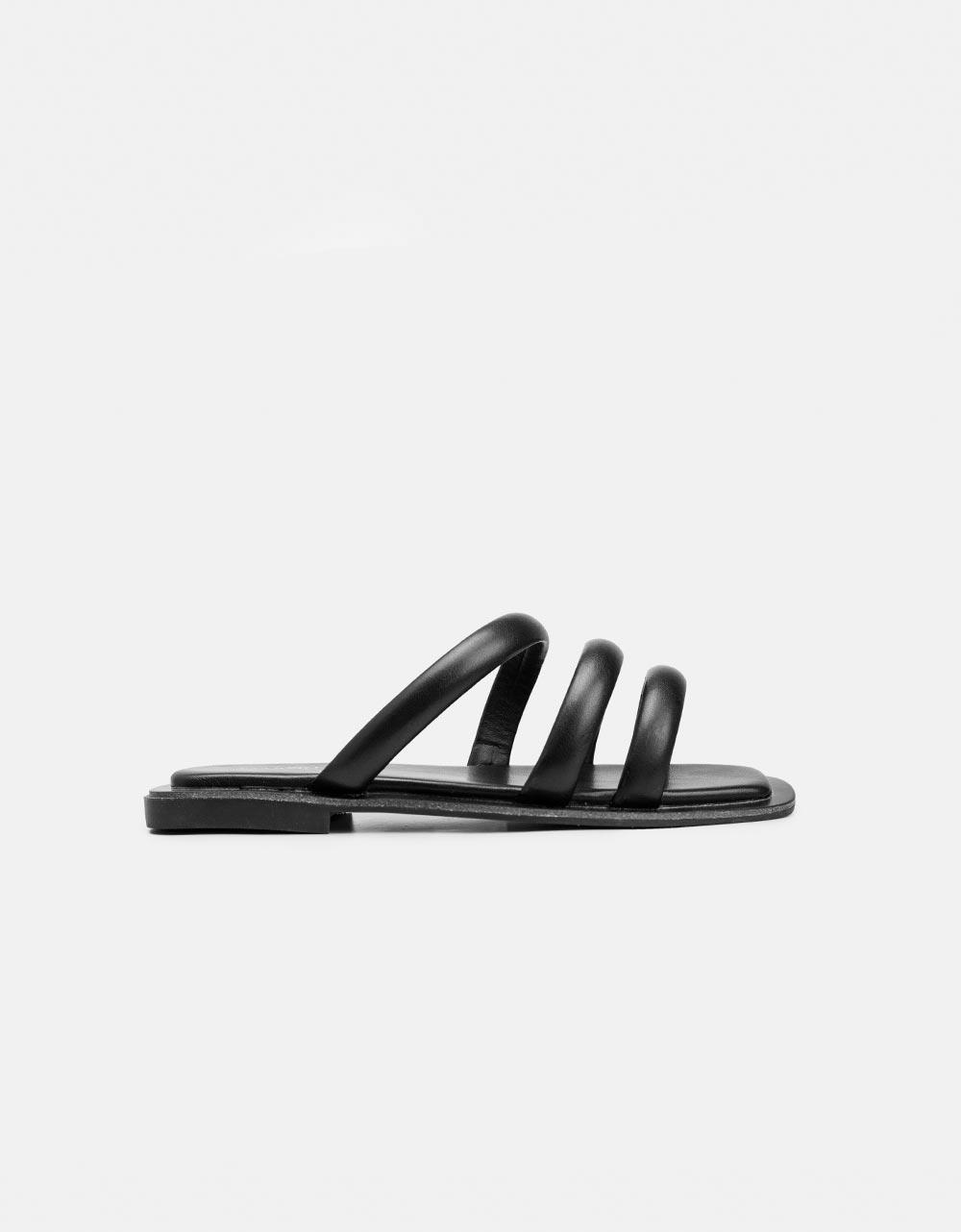 Εικόνα από Γυναικεία σανδάλια με τρία λουράκια Μαύρο