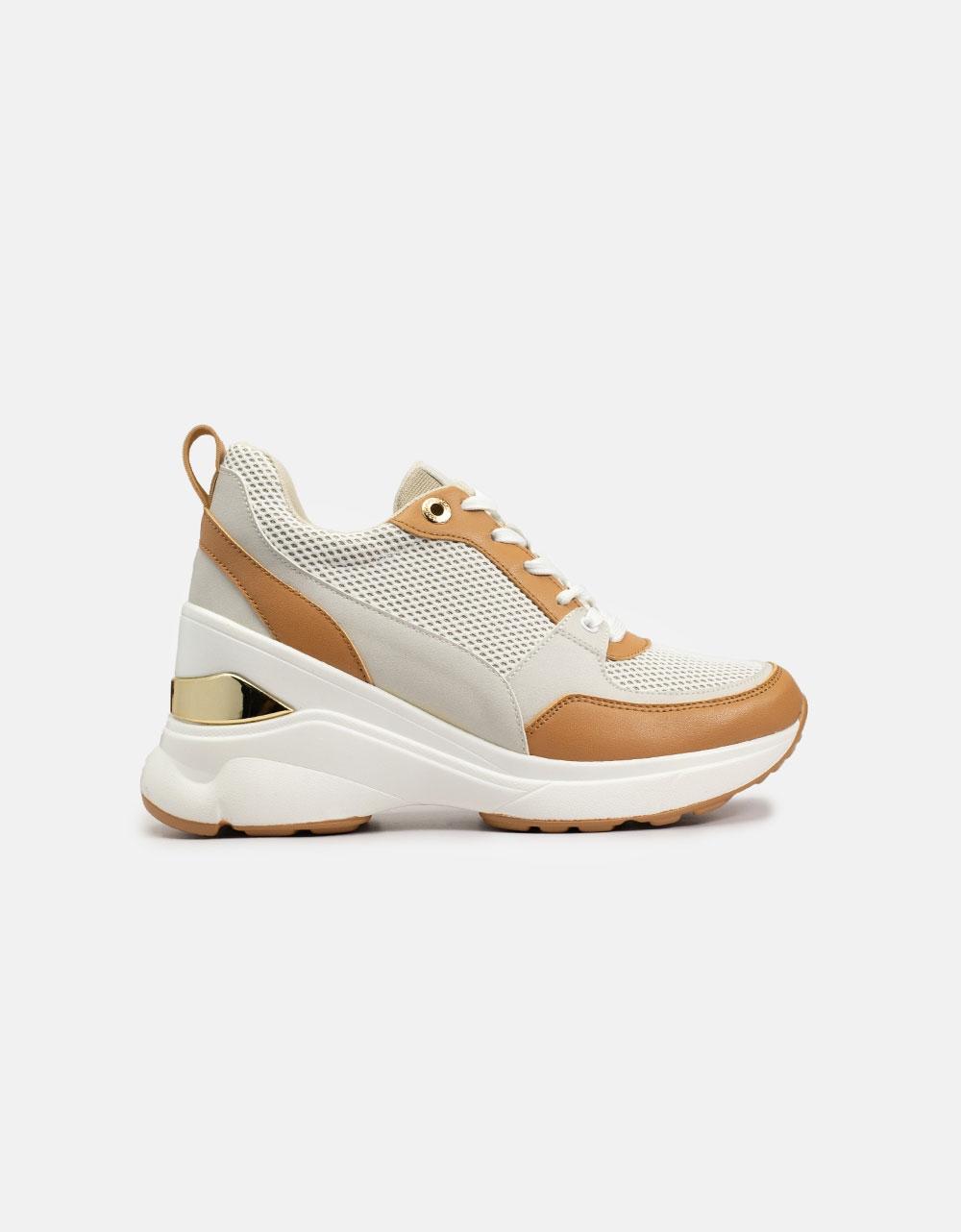 Εικόνα από Γυναικεία sneakers σε συνδυασμούς υλικών Ταμπά