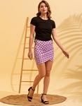 Εικόνα από Γυναικεία φούστα με πουά σχέδιο Μωβ
