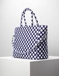 Εικόνα από Γυναικεία τσάντα χειρός σε πουά σχέδιο Λευκό/Μπλε