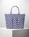 Εικόνα από Γυναικεία τσάντα χειρός σε πουά σχέδιο Μπλε/Λευκό