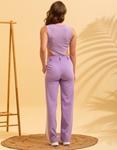 Εικόνα από Γυναικείο κορμάκι με ψηλό άνοιγμα Λιλά