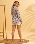 Εικόνα από Γυναικείο πουκάμισο με σχέδια Σιέλ
