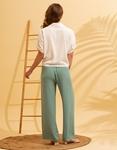 Εικόνα από Γυναικείο πουκάμισο με ανάγλυφο σχέδιο δετό Λευκό