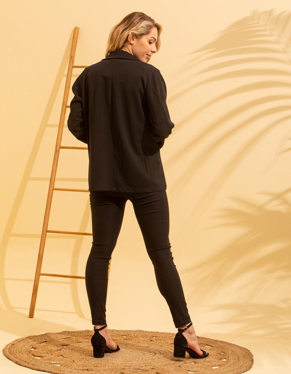 Εικόνα από Γυναικείo σακάκι σε ίσια γραμμή Μαύρο