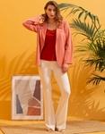 Εικόνα από Γυναικείo σακάκι σε ίσια γραμμή Ροζ