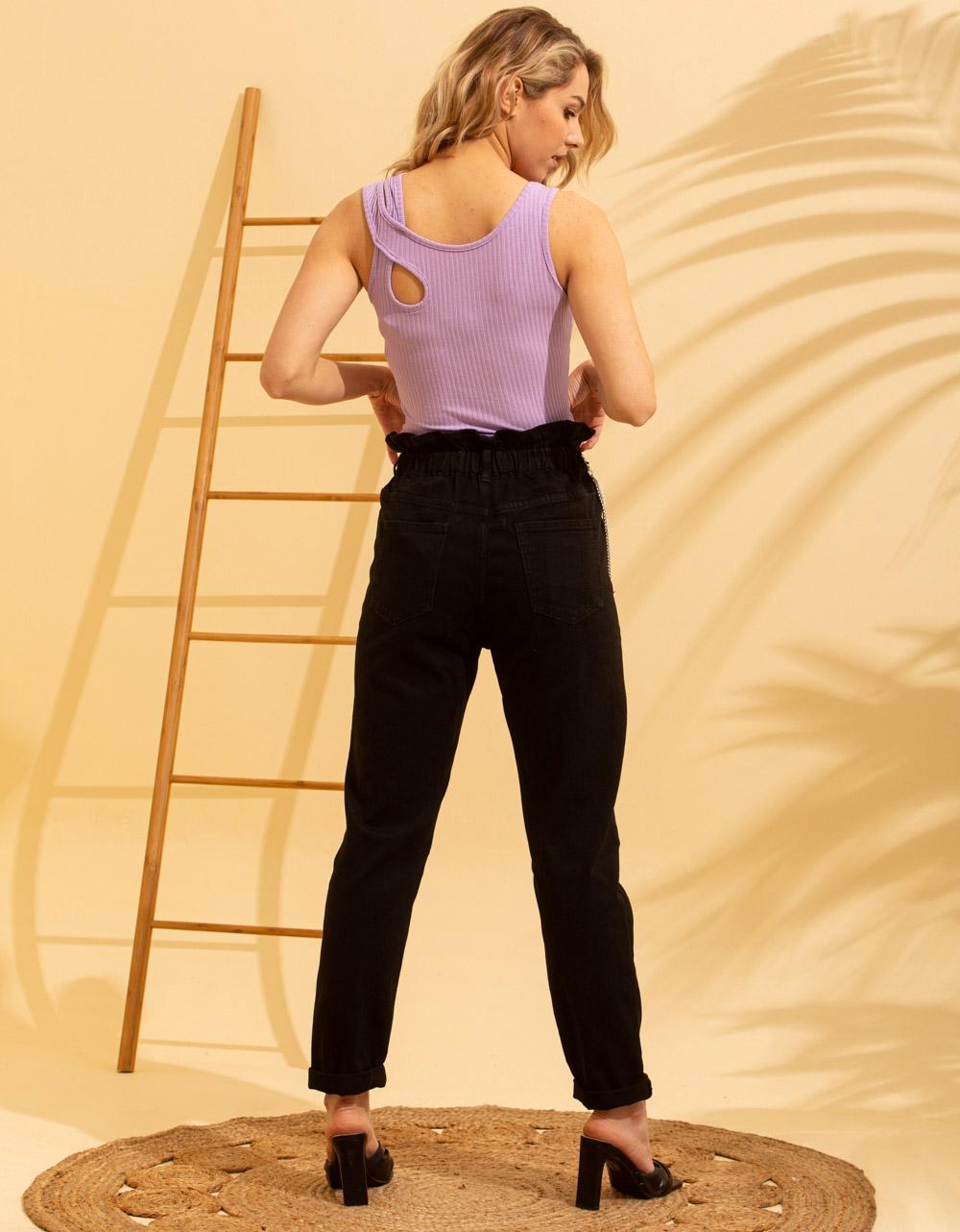 Εικόνα από Γυναικεία μπλούζα με χιαστί τιράντα Λιλά