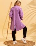 Εικόνα από Γυναικείο πανοφώρι ελαφρύ με τσεπάκια Μωβ
