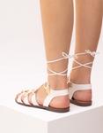 Εικόνα από Γυναικεία σανδάλια lace up Λευκό