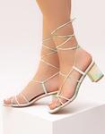 Εικόνα από Γυναικεία πέδιλα lace up με σχέδια Πράσινο