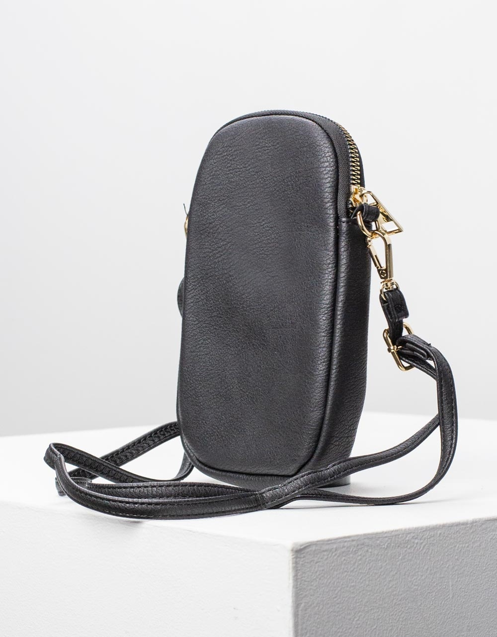 Εικόνα από Γυναικείο πορτοφόλι με λουράκι Μαύρο