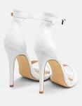Εικόνα από Γυναικεία πέδιλα μονόχρωμα Λευκό