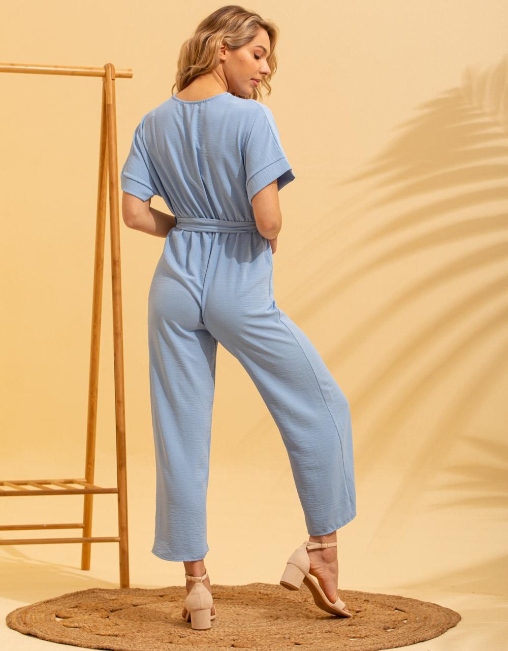 Εικόνα από Γυναικεία ολόσωμη φόρμα κρουαζέ Σιέλ