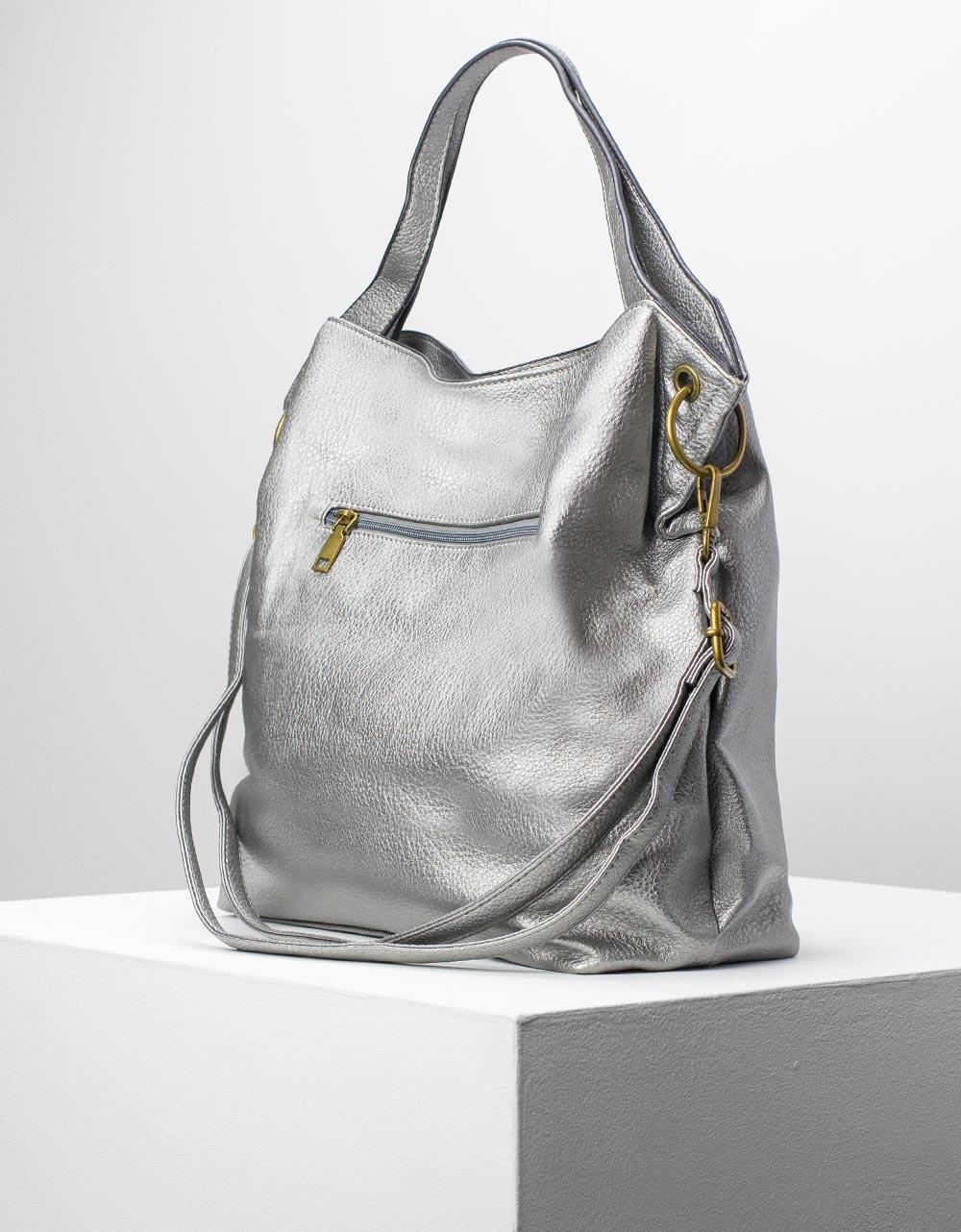 Εικόνα από Γυναικείες τσάντες χειρός μονόχρωμη Γκρι