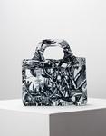 Εικόνα από Γυναικεία τσάντα χειρός με χειρολαβή και σχέδια Λευκό/Μαύρο