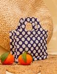 Εικόνα από Γυναικεία τσάντα χειρός με χειρολαβή και σχέδια Μπλε/Λευκό
