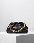 Εικόνα από Γυναικεία τσάντα ώμου & χιαστί με αλυσίδα Μαύρο