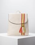 Εικόνα από Γυναικεία σακίδια πλάτης με διακοσμητικά φουντάκια Λευκό