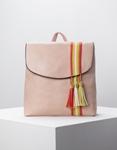Εικόνα από Γυναικεία σακίδια πλάτης με διακοσμητικά φουντάκια Ροζ