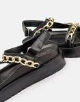 Εικόνα από Γυναικεία σανδάλια με διακοσμητική αλυσίδα Μαύρο