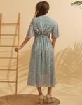 Εικόνα από Γυναικείο μακρύ φορέμα floral Πράσινο