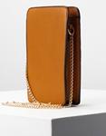 Εικόνα από Γυναικείο πορτοφόλι τσαντάκι με καπιτονέ λεπτομέρεια Ταμπά