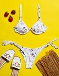 Εικόνα από Γυναικεία μαγιό σετ μπικίνι σε συνδυασμούς χρωμάτων Λευκό