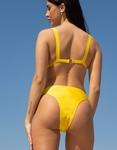 Εικόνα από Γυναικεία μαγιό σετ μπικίνι με φερμουάρ Κίτρινο