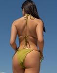 Εικόνα από Γυναικεία μαγιό σετ μπικίνι τριγωνάκι Πράσινο