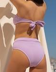 Εικόνα από Γυναικεία μαγιό σετ μπικίνι ριπ strapless Λιλά