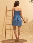 Εικόνα από Γυναικείο φόρεμα ραντάκι σεμιζιέ Μπλε