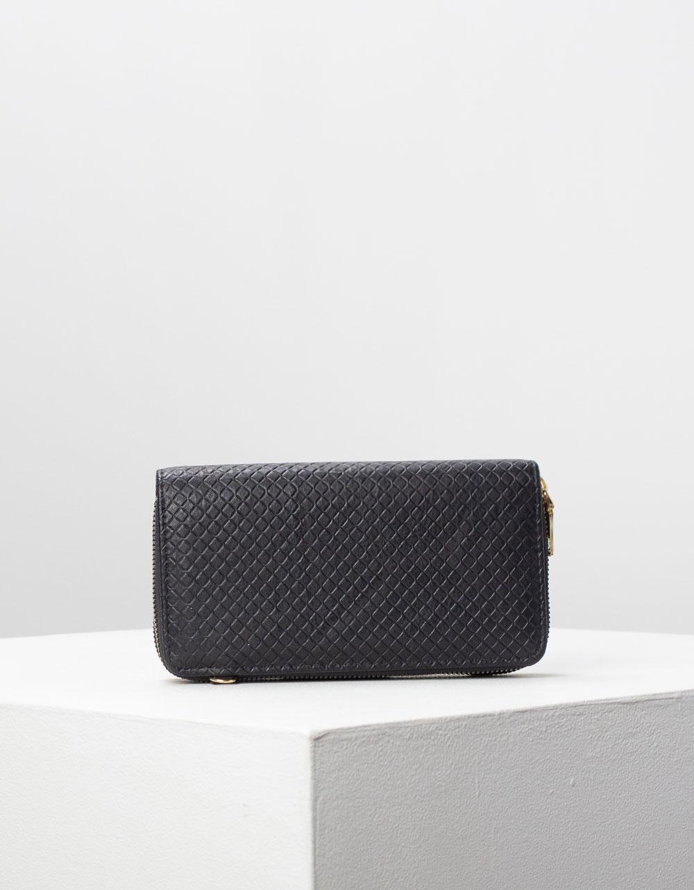 Εικόνα από Γυναικείο πορτοφόλι basic μονόχρωμο Μαύρο