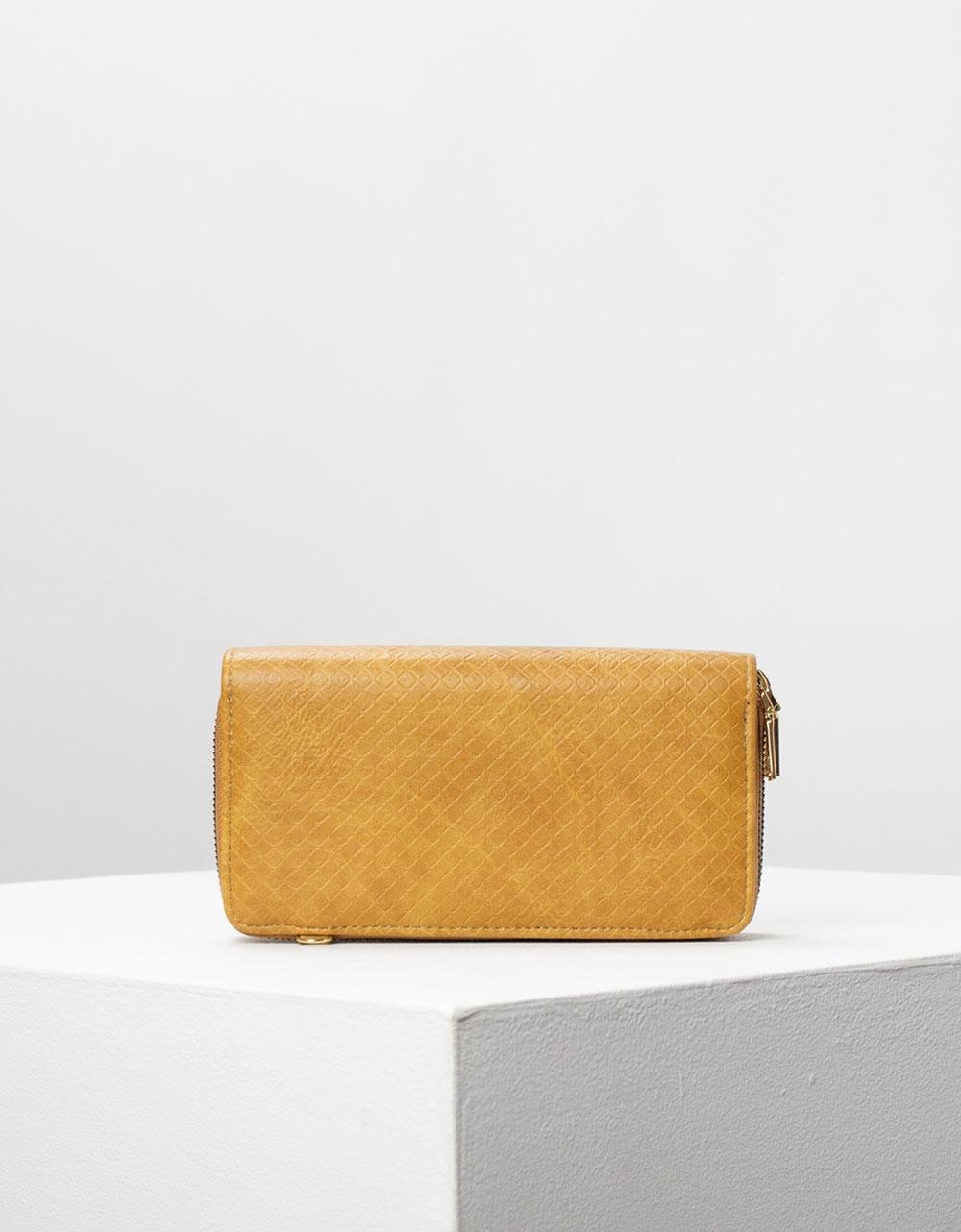 Εικόνα από Γυναικείο πορτοφόλι basic μονόχρωμο Ταμπά