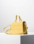 Εικόνα από Γυναικεία τσάντα ώμου & χιαστί με καπιτονέ σχέδιο Κίτρινο