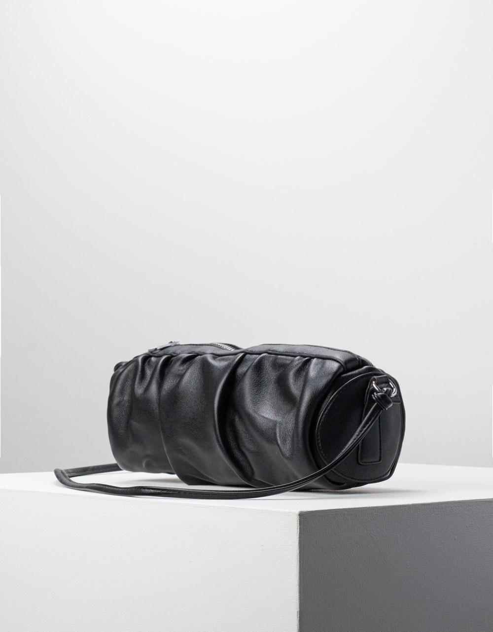 Εικόνα από Γυναικεία τσάντα ώμου & χιαστί βαρελάκι Μαύρο