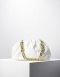 Εικόνα από Γυναικεία τσάντα ώμου & χιαστί με αλυσίδα Λευκό