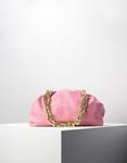 Εικόνα από Γυναικεία τσάντα ώμου & χιαστί με αλυσίδα Ροζ