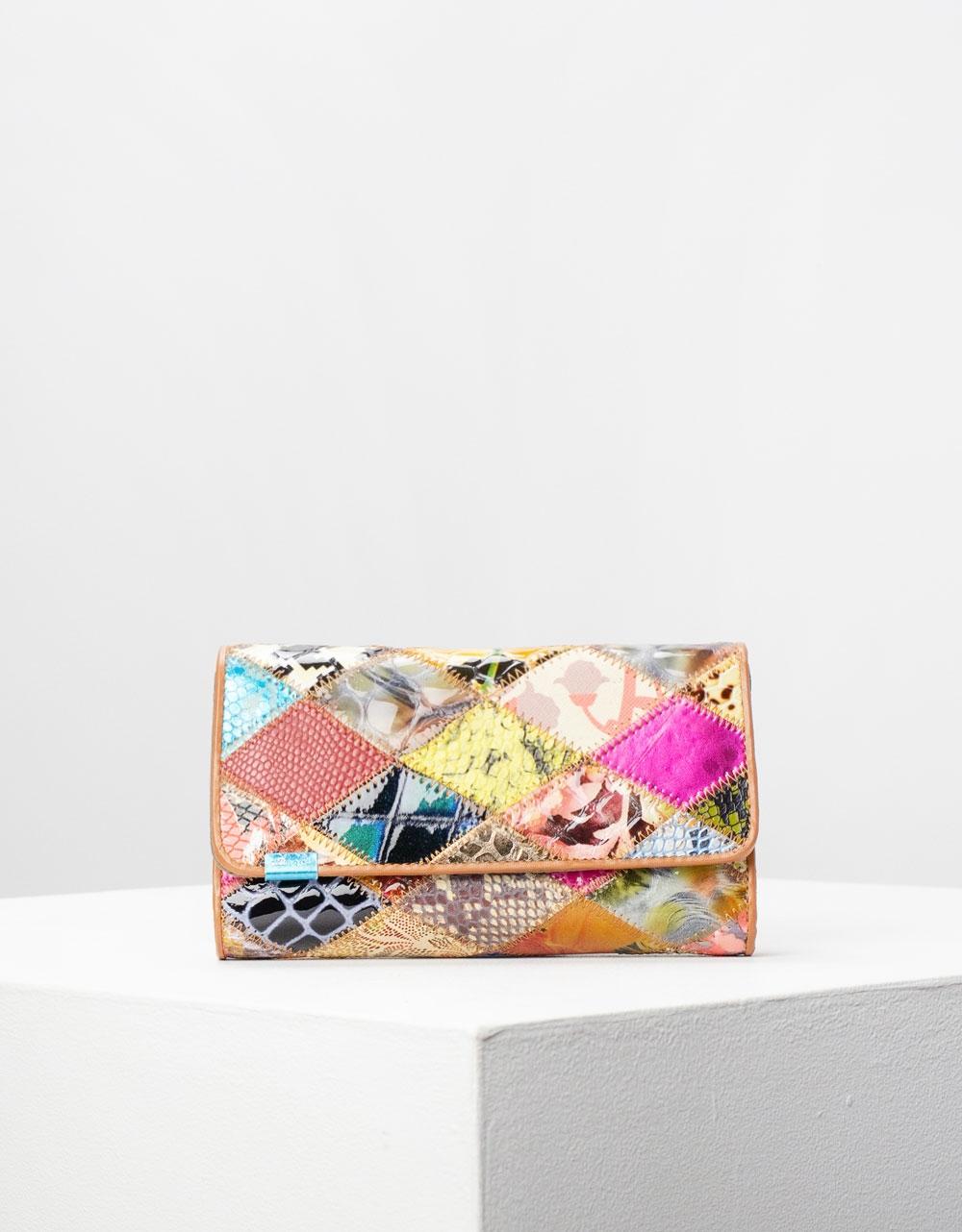 Εικόνα από Γυναικεία πορτοφόλια δερμάτινα σε συνδιασμό χρωμάτων Multi