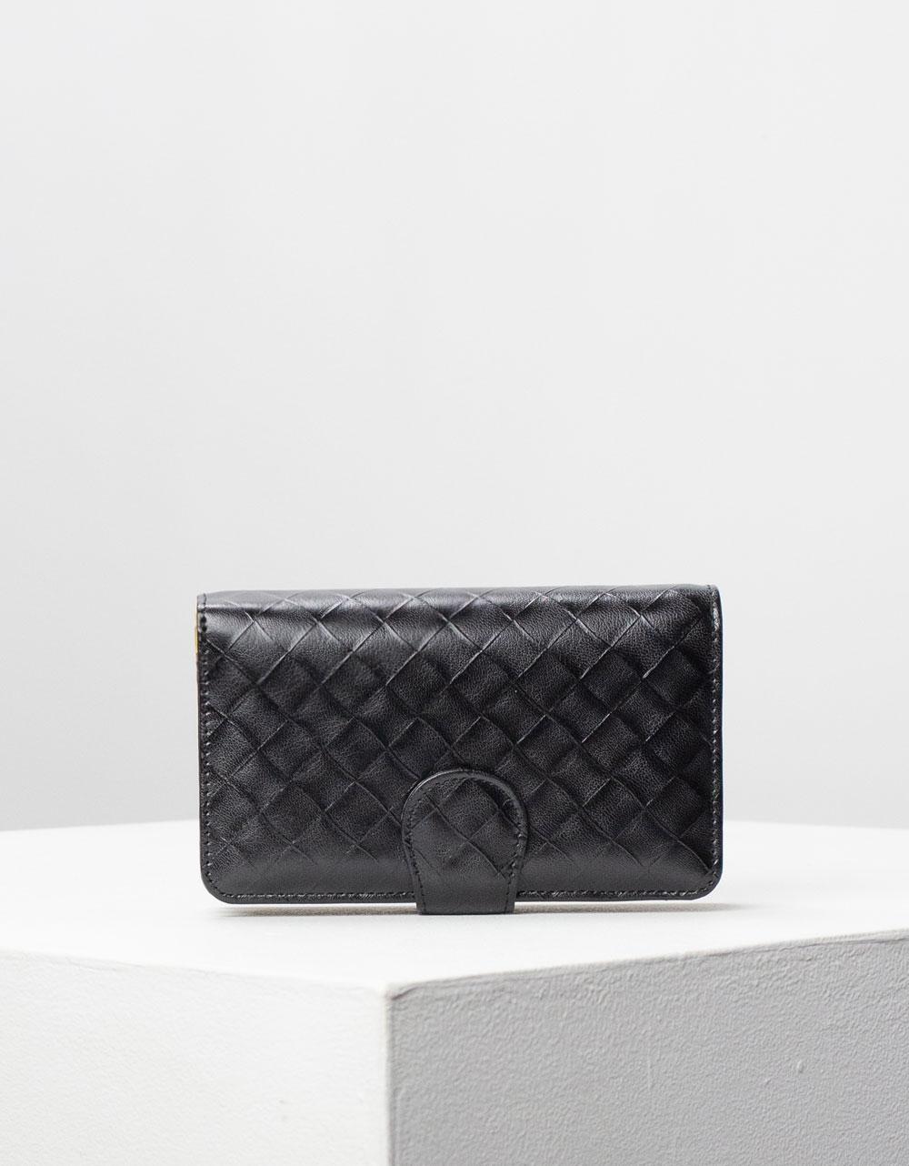 Εικόνα από Γυναικεία πορτοφόλια δερμάτινα με σχέδιο Μαύρο