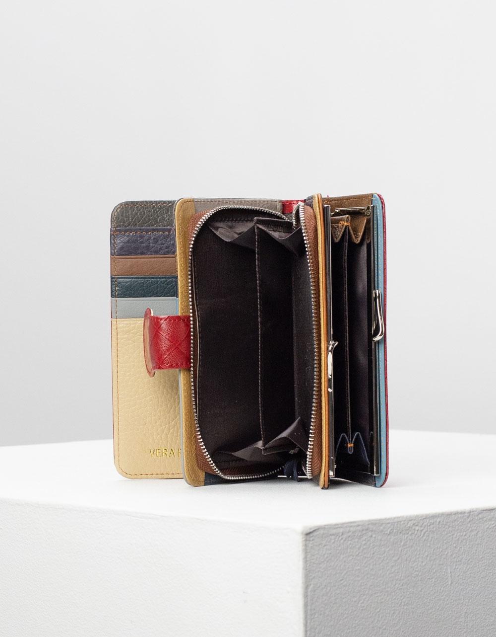 Εικόνα από Γυναικεία πορτοφόλια δερμάτινα με σχέδιο Μπορντώ